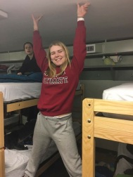 Lindy in the barracks at regionals